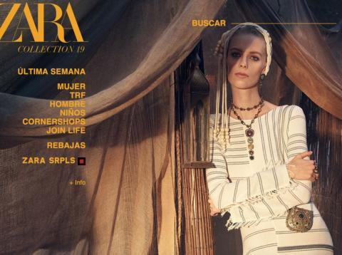 Plataforma online de Zara