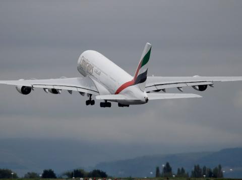 Avión de Emirates modelo Airbus A380