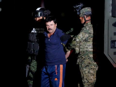 El Chapo Guzmán, en el momento de su arresto