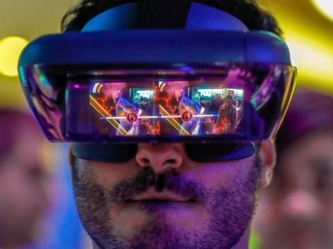 Gafas de realidad virtual en el Mobile World Congress
