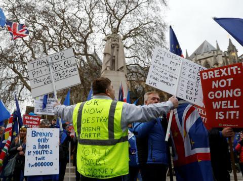 Una manifestación a favor del Brexit