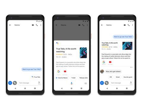 Google Mensajes asistente inteligente información relacionada