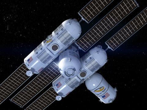 Prototipo del hotel espacial de lujo Aurora Station