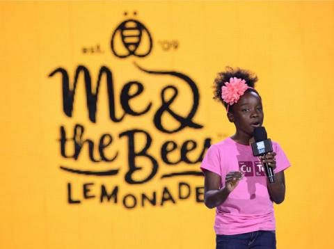 Mikaila Ulmer, founder of Me & the Bees lemonade, speaks onstage during WE Day on April 20, 2016 in Seattle, Washington.