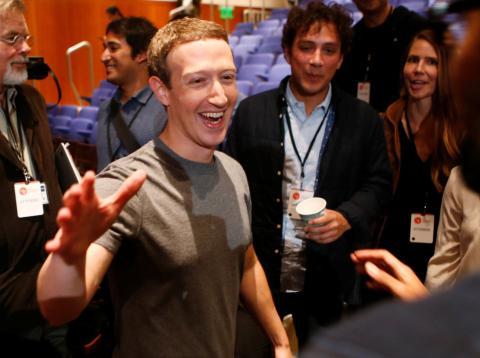 Mark Zuckerberg en un encuentro
