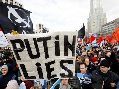Manifestaciones contra la censura en Rsuia
