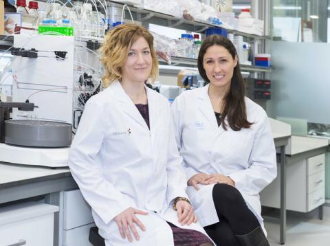 Laura Soucek y Marie-Eve Beaulieu, investigadoras contra el cáncer.