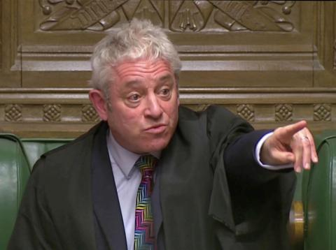 John Bercow, Mr. Speaker en la Cámara de los Comunes