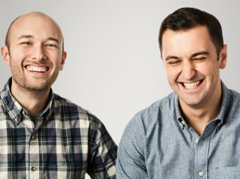 El CEO de Lyft, Logan Green (izq.) y el confundador John Zimmer.