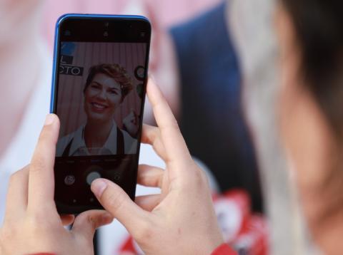 Redmi Note 7 haciendo foto