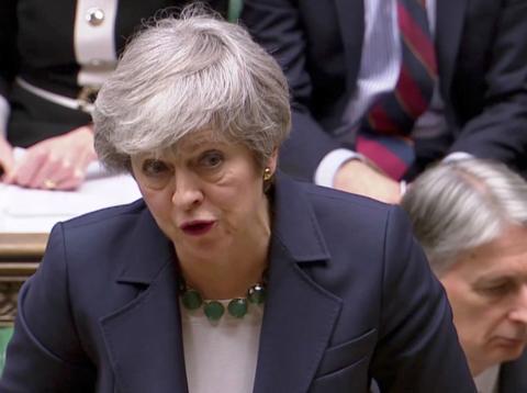 Theresa May, en el Parlamento británico