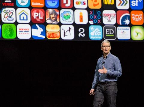 Apple CEO Tim Cook speaks at an Apple event at the Worldwide Developer's Conference on June 13, 2016 in San Francisco, California. Thousands of people have shown up to hear about Apple's latest updates.