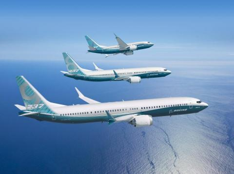 The Boeing 737 Max family of jets.