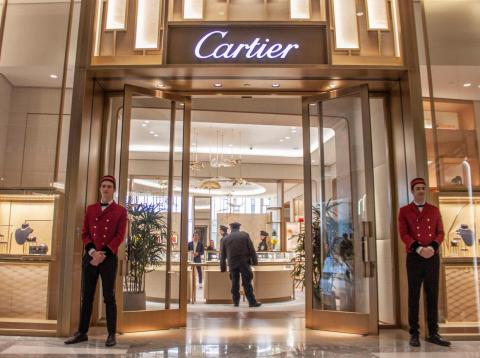 Una tienda de Cartier en Hudson Yards, el nuevo barrio de Nueva York.