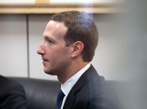 El CEO de Facebook, Mark Zuckerberg, en el capitolio de Washington en abril de 2018.