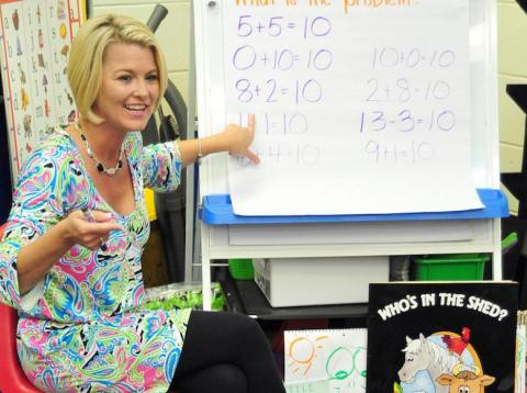 Kindergarten teacher Deanna Jump reached millionaire status by selling lesson plans online.