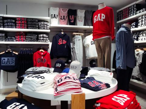 Logo mania at Gap.