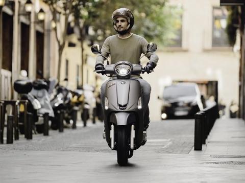 Las motos en la ciudad