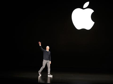 Tim Cook en la presentación de Apple News