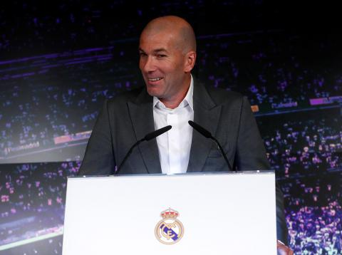 Zinedine Zidane, presentado como entrenador del Real Madrid