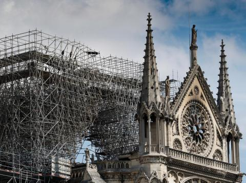 A fire tore through Notre-Dame Cathedral on Monday.