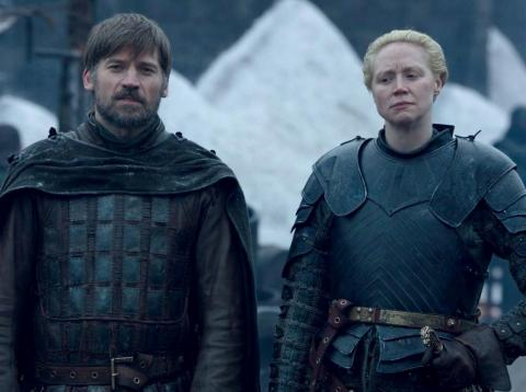 With Jaime and Brienne together, this marked the first time the pieces of Ned Stark's sword have been back in Winterfell since his death.