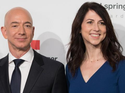 Jeff and MacKenzie Bezos both released Twitter statements on Thursday.