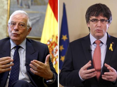 Josep Borrell y Carles Puigdemont