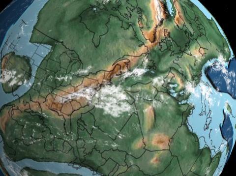 Mapa de la Tierra hace millones de años