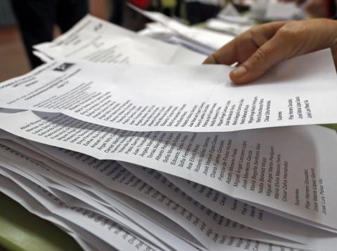 Papeletas de las Elecciones Generales 2019