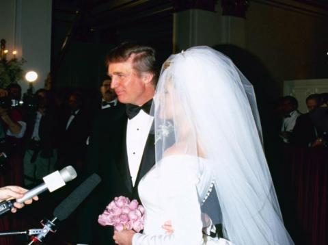 The wedding of Marla Maples and entrepreneur Donald Trump, New York City, 20th December 1993.