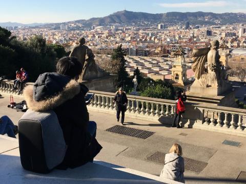 Barcelona desde el mirador de Montjuic