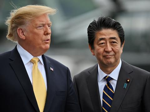 Donald Trump y Shinzo Abe