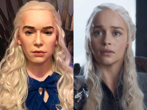 "Emilia Clarke's wax figure, inspired by her iconic ""Game of Thrones"" character, isn't accurate."