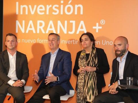Equipo directivo de ING España en la presentación de ING Inversión Naranja.