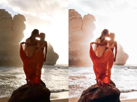 Marie Fe y Jake Snow demuestran cómo la edición puede cambiar una foto