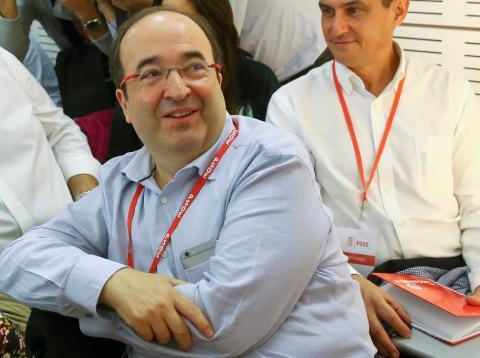 Miquel Iceta en un mitin del PSOE en Madrid.