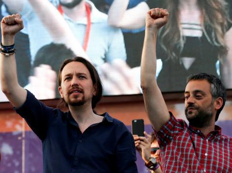 Pablo Iglesias y Xulio Ferreiro.