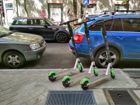 Patinetes eléctricos compartidos Lime en Madrid