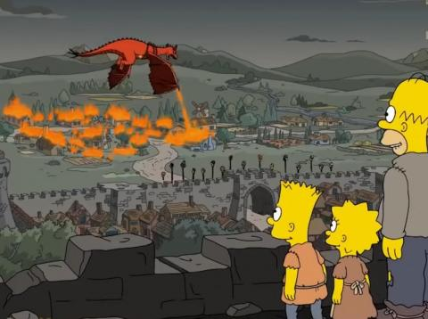 "A scene from ""The Simpsons,"" season 29, episode one, ""The Serfsons."""