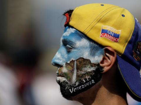 Venezuela manifestante el 1 de mayo