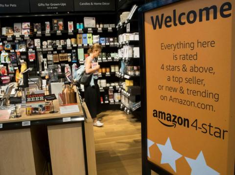 Amazon 4-star is an Amazon store concept that puts the ratings front and center.