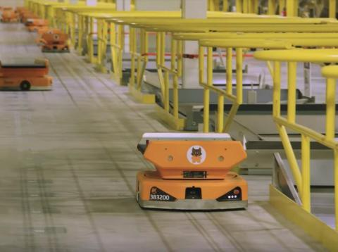 Amazon's new Pegasus robots have cut down on missorted packages by 50%.