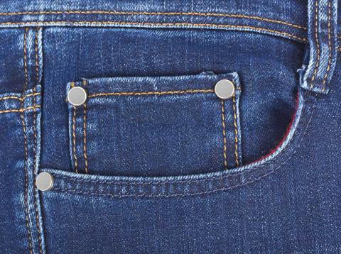 Bolsillo pequeño pantalones
