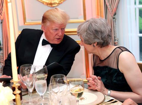 Donald Trump, presidente de los Estados Unidos, y Theresa May, primera ministra de Reino Unido