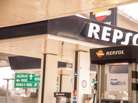 Una estación de servicio de Repsol