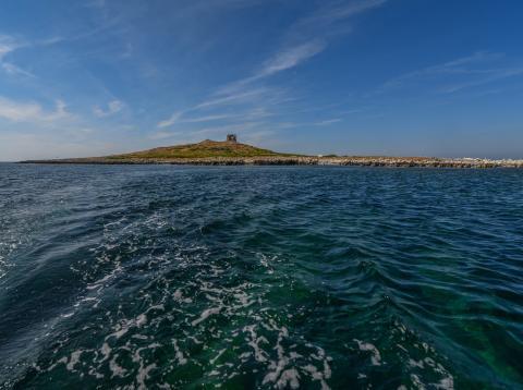 Imagen de una isla en venta en la costa siciliana (Italia)