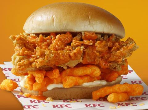 KFC está preparando un sándwich de pollo frito con Cheetos en todos los rincones de Estados Unidos
