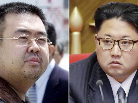 Kim Jong-nam (left) and North Korean leader Kim Jong Un.