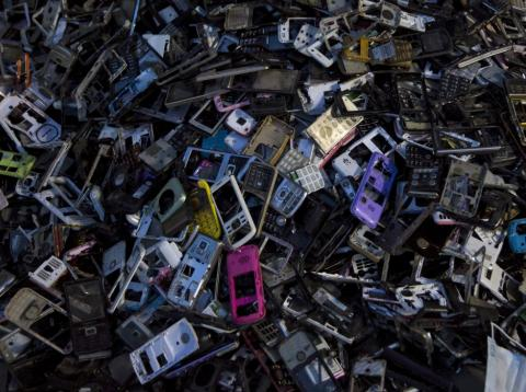 Móviles utilizados en un vertedero
